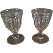 "Pair of Flint ""Flute"" Pattern Goblets"