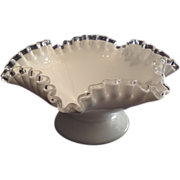 """Fenton """"Silver Crest"""" Footed Bowl"""