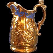 SALE Copper Lustre glazed pitcher