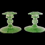 Cambridge Glass Company Candle Sticks