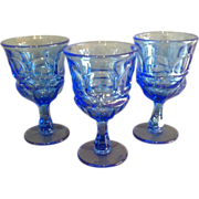 "Set of 3 Fostoria HFM ""Argus"" Pattern Goblets"