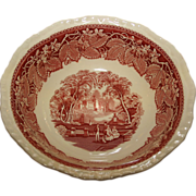SALE Mason's 9 Inch Vegetable Bowl in the Vista pattern - Ironstone Red Transferware by ...