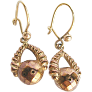 Victorian 9 Karat Gold Dangle Earrings 19th Century