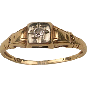 Vintage 14K Diamond Engagement/Promise Ring