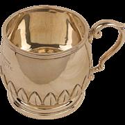 SALE SALE!!  Vintage English Sterling Christening Mug c. 1931-Applied Leaves