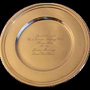 SALE Tiffany Maker's Sterling Bread Plate-Horse Trophy c.1920