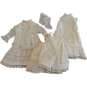 SOLD Delectable Dress, Slips, Pantaloons and Socks for 14 Inch Doll