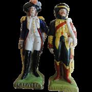 SALE SALE Pair Miniature Porcelain Soldier Figurines