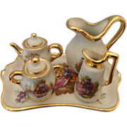 SOLD Miniature Limoges Tea Set for Doll House or Doll Room