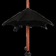 """SALE Small 8"""" Black Doll Umbrella"""