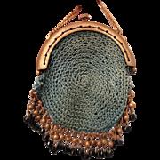 SALE Precious Tiny Aqua Crocheted Purse for your French Fashion
