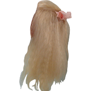 Beautiful Artist Made Blond Mohair Doll Wig 9-10 Inches