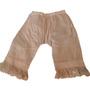 Pair Lace Trimmed Doll Pantaloons