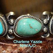 REDUCED Native American Old Pawn Style Silver Turquoise Cuff Bracelet