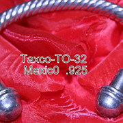 REDUCED Taxco Mexico .925 Twisted Silver Cuff Bracelet