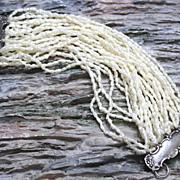 REDUCED Vintage Cultured Freshwater Multi-strand Pearl Bracelet