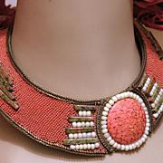 REDUCED Vintage 1987 Hansen Beaded Collar Necklace