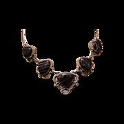 Vintage Sterling Black Lace Onyx Necklace