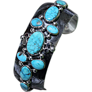 REDUCED Native American Navajo Silver Turquoise Cuff Bracelet