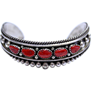 Vintage Mediterranean Coral Bracelet