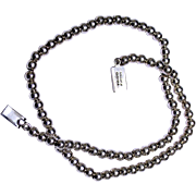 REDUCED Taxco Sterling Silver Bead Necklace