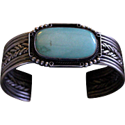 Native American Style Sleeping Beauty Turquoise Bracelet