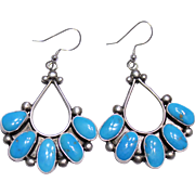 REDUCED Native American Sterling Turquoise Earrings