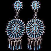 REDUCED Native American Zuni Turquoise Earrings