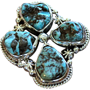 REDUCED Native American Navajo Turquoise Nugget Ring