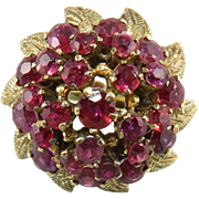 SALE 3ctw Natural Ruby Raspberry Ring 18K c1920