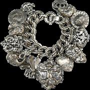 SALE Vintage Napier Victorian Style Charm Bracelet
