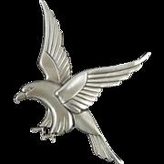 SALE Art Deco Sterling Eagle Brooch by Coro