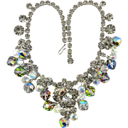 Juliana Sparkling Black Diamond Rhinestones and Aurora Borealis Bead Necklace
