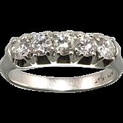 SALE 1/2ctw Platinum and Diamond Ring c1940