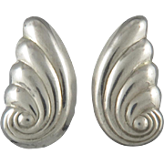 Swirling Puffy Sterling Earrings