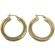 Big Puffy Sterling Vermeil Hoops