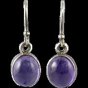 Amethyst Dangle Sterling Silver Earrings