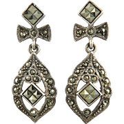 Beautiful Marcasite Sterling Silver Dangle Earrings