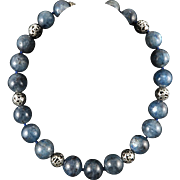 """Rare Large Kyanite Bead Necklace 18mm-20mm Beads 20"""""""
