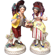 Early 20th Century French Bisque Couple - Signed Kessler