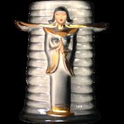 Asian Hedi Schoop Hollywood Mid-Century Turn-Around Vase