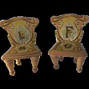ABC R. Bliss Dollhouse Chairs ca.1896
