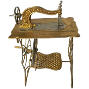 Metal Gilded Sewing Machine