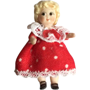 """Adorable Little Bisque Googly Doll. 1 1/2"""""""