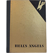 """SOLD Vintage Press Book ~"""" Hell's Angel""""  ~ by Howard Hughes~ With Jean Harlow~ Rare"""