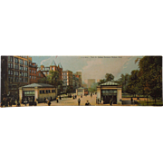 Panoramic Postcard of The Park Street Subway Entrance Of Boston, Mass.  Dated 1905, Germany