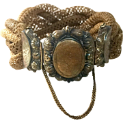 Victorian Woven Hair Bracelet with Locket