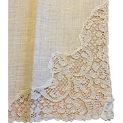 French Linen and Lace Napkins