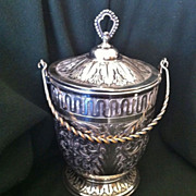 James W. Tufts of Boston Silverplate Biscuit Jar c. 1890