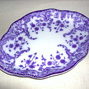 "Oval Platter W.H. Grindley and Co. Staffordshire Flow Blue ""Marie"" c. 1800s"